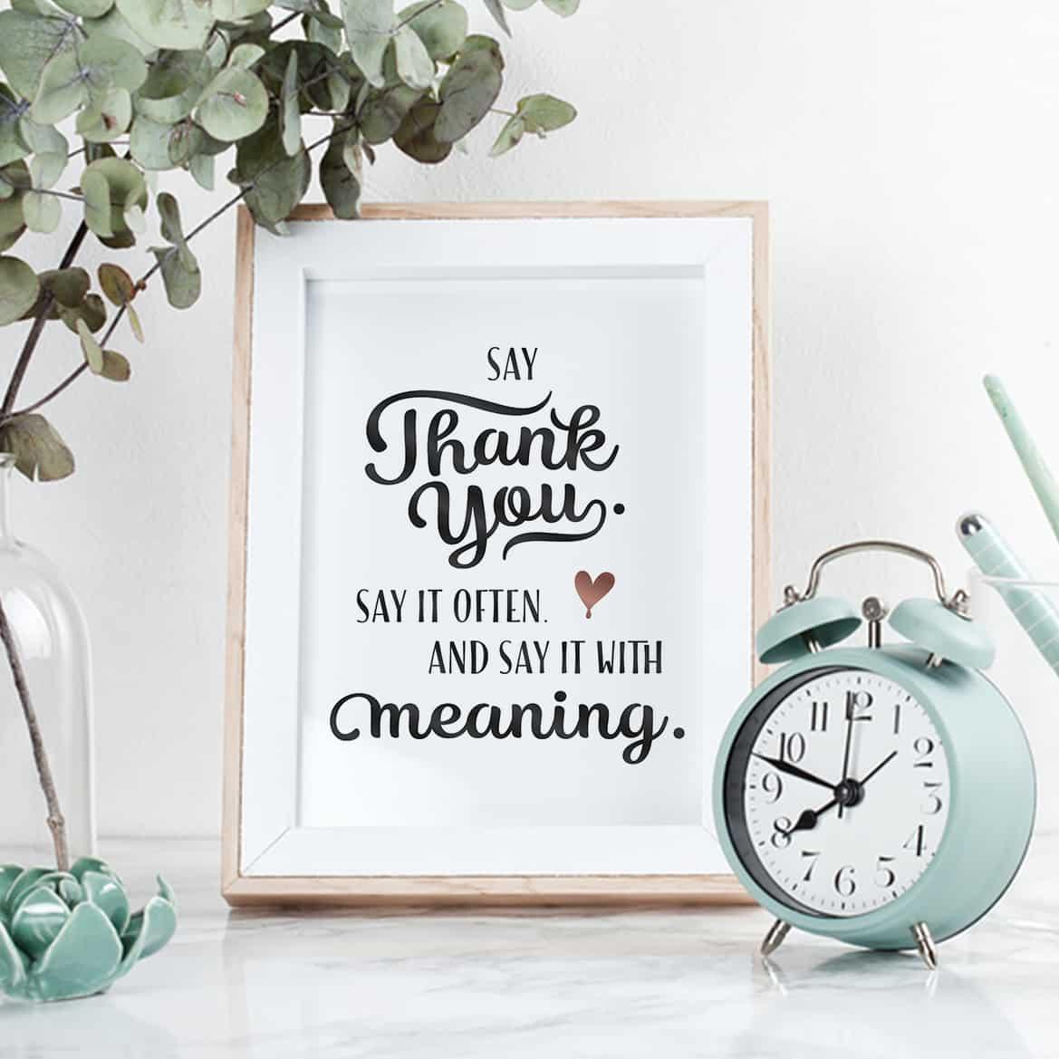 Sprüche Poster Dankbarkeit